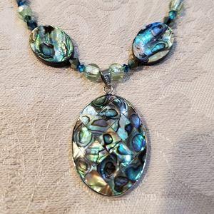 Abalone Mosaic Necklace